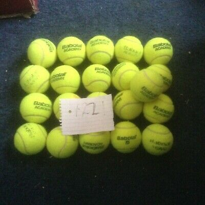 20 tennis balls babolat only used in door courts only