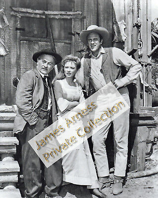 James Arness Marshal Dillon Gunsmoke Matt + Doc & Kitty 8 x 10 Photo
