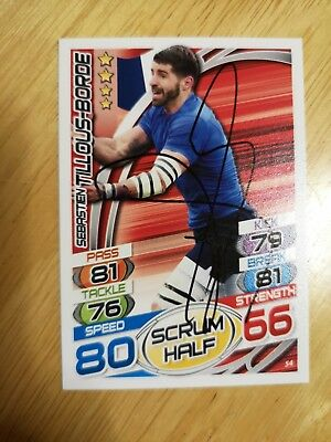 Sebastien Tilous-Borde Signed Rugby Attax Trading Card No. 54 France Toulon