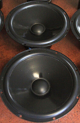 "1 pair Peerless of India 8"" paper cone woofers, pn W8-12T12PS rubber surround"
