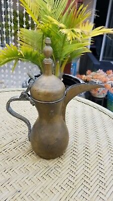 Arabic Islamic Brass Copper Dallah Bedouin Coffee / Tea Pot #2