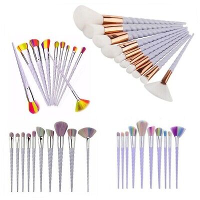 10pcs Unicorn Spiral Makeup Brushes Set Eyeshadow Powder Brushes kit