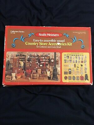 Realife miniatures - Country Store Accessories Kit 198 / wood doll house