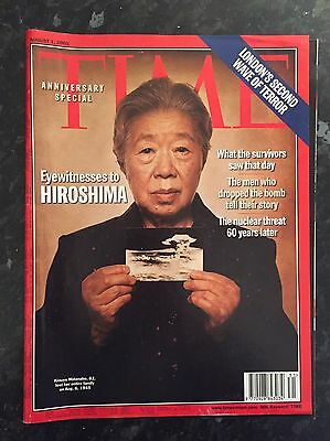 TIME MAGAZINE HIROSHIMA WW2 ATOMIC BOMBS BOMBING ANNIVERSARY SPECIAL Aug 1 2005