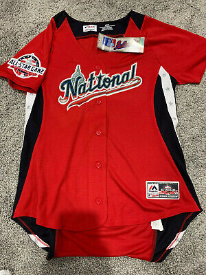 d9189a24709 Women s National Majestic 2018 MLB All-Star Game RED Cool Base Jersey Medium