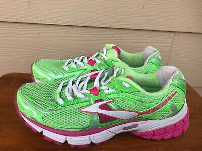 9ce203c90c51d Brooks Ravenna 4 Women s Athletic Running Shoes Sneakers Green Pink White  Size 7