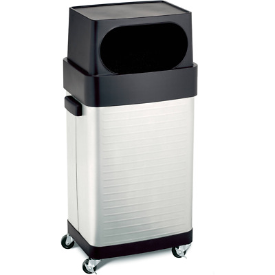 Seville Classics UltraHD 17-Gal. Commercial Stainless Steel Trash Bin, NEW