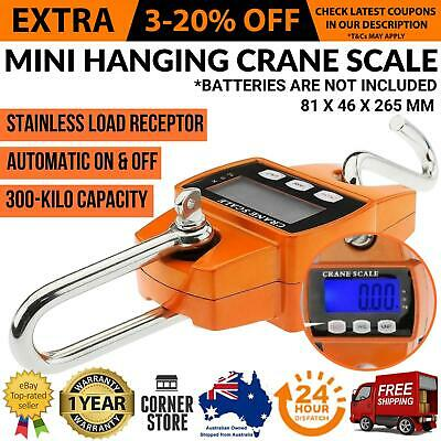 Digital Electronic Mini Crane Scales Industrial Hanging Weight 300KG Heavy Duty