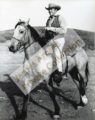 "James Arness Marshal Dillon Gunsmoke ""Matt on Buck"" 8 x 10 Photo"