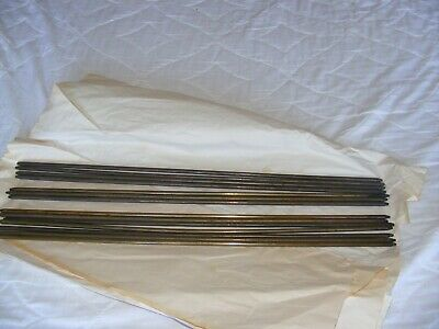 Vintage/Antique Stair Rods 14 Brass/ Brass - Covered?