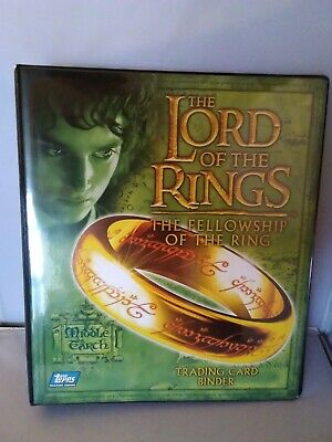 Lord Of The Rings Fellowship of the ring Official Topps Binder