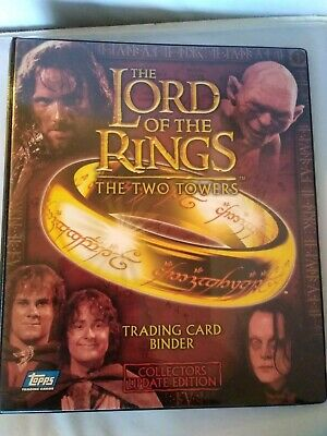 Lord Of The Rings The Two Towers collectors update edition Topps Binder