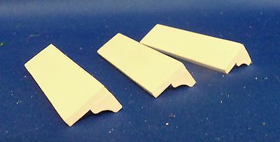 Dollhouse Miniature 1:12 Scale Square Cornered set of 3 White Wall Shelves