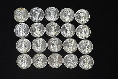 1942-P Uncirculated Walking Liberty Half Dollar Roll