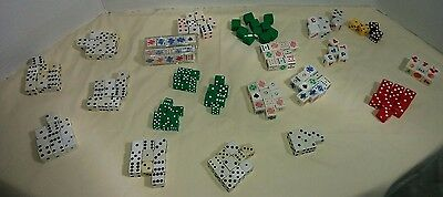 Lot 170 Gaming Dice All Sizes Stone Variety Mixed Collection