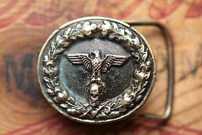Vtg Hand Crafted Solid Bronze Cast Skull War Eagle Bikers Western Belt Buckle