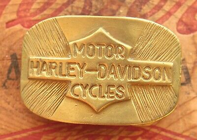 Vintage Hand Made Motorcycle Logo Solid Brass Bikers Belt Buckle