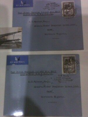 Air Mail First Dispatch 29th October 1936 Lagos - Kano