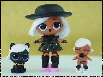 LOL Surprise Hair Goals BIG+LIL WITCHAY BABAY KITTAY Witchy Baby Lils FAMILY Set