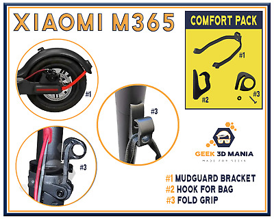 Xiaomi M365 COMFORT PACK High Quality 3D Print Accessories scooter Mijia BLACK