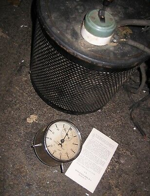 """Hanovia Alpine Sun Lamp"" Ballast Power w/ Timer Clock. Antique Radionics."
