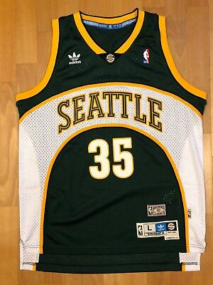 03d5283ebf8 Kevin Durant Adidas Hardwood Classics 07-08 Seattle Sonics ROY Jersey -  Large