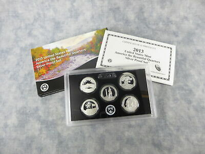 2013-S US Mint America The Beautiful Quarters Silver Proof Set OGP COA (5 coins)