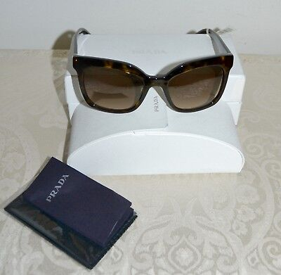 3141d3450abf1 NEW  315 PRADA Sunglasses Oversized Tortoise Shell Brown Havana Lenses  SPR24Q