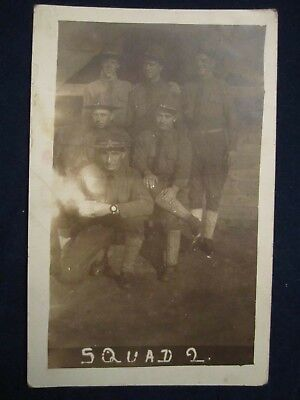 Squad 2 Group, Fort Sheridan, Alabama, World War I, c. 1917, Nice!