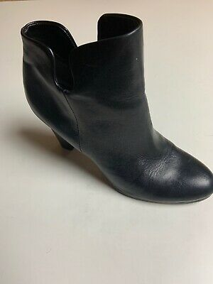 ef0451c77 SAM EDELMAN Size 7.5 SHELBY Black Leather Ankle Boots Booties