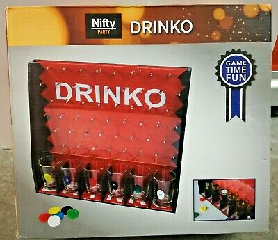 Niffty Party DRINKO Shot PLINKO Drinking Alcohol Game Bar Room Rec Cave Sealed
