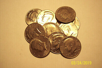10 Kennedy Half Dollars!!! Lot Of 10 Coins Uncirculated!!!$ 5.00 Face Value