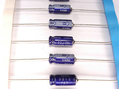8 Pcs Nichicon VX Series 100V 100UF Axial Lead Type Japan Make Capacitor 10x26