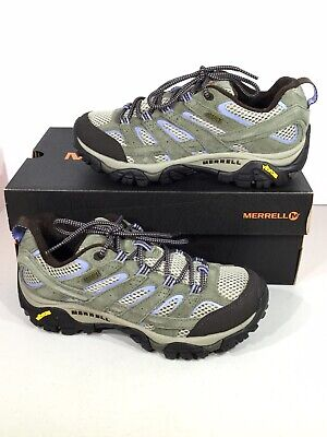 db4c8c8eeaa MERRELL MOAB 2 WP Low Women's Size 7.5 Olive Suede Lace Up Hiking Shoes  X19-42