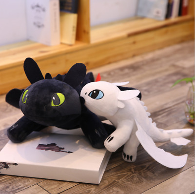 2PCS/35CM Toothless Night Fury+Light Fury How to Train Your Dragon 3 Plush Doll