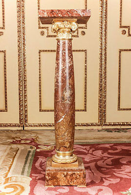 Marble Ornamental Pillar in the Style of the Classicism