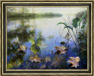 """Hand-painted Oil painting art Landscapes Fallen leaveson Canvas 30""""X40"""""""