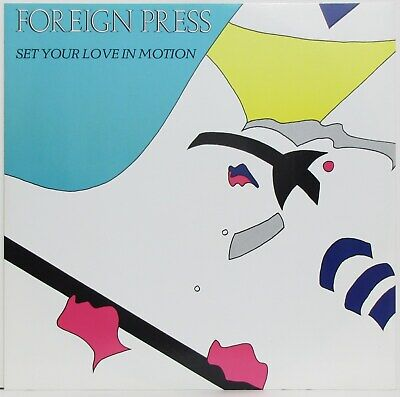 """FOREIGN PRESS Set Your Love In Motion 3-track UK 12"""" 1984 New Wave Post Punk"""