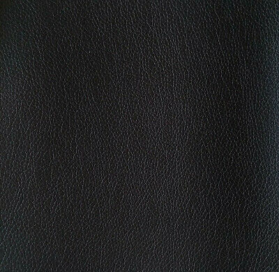 Upholstery Vinyl~Faux Leather~Fabric~Black~Bty~Solid~Accesories~Matte~Soft Pvc