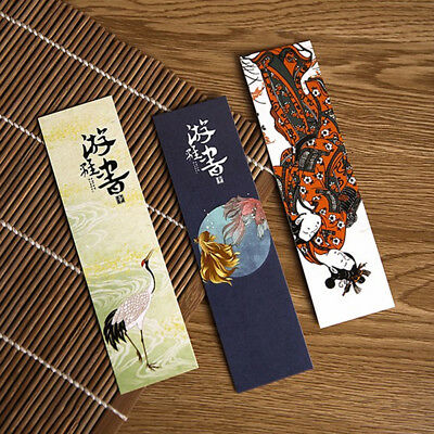 30pcs Japanese Cute Paper Bookmark Vintage Book Marks Decor Gifts Accessories