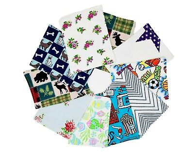 100 Pack Cotton Double Layer Reusable Flannel Newborn Baby Wipes, Inserts, Nappy