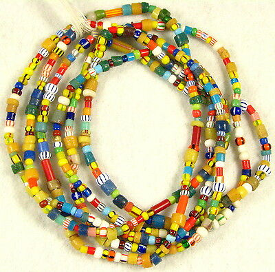 2 Long Strands Mix Color Glass CHRISTMAS African Trade Beads
