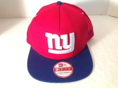 0a5e7fa2 New York Giants Nfl Vintage Red New Era Snapback 9Fifty 2-Tone Cap Hat New