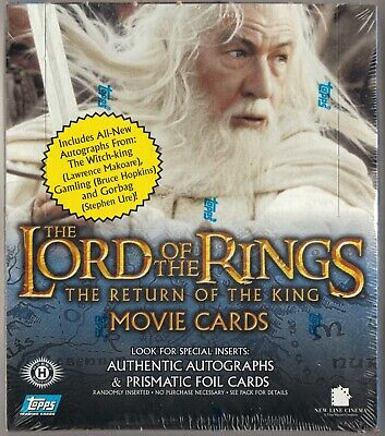 Topps Lord of the Rings Return of the King Movie Cards ROTK Hobby Edition SEALED