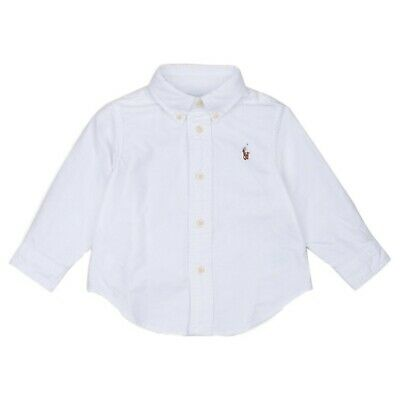 RALPH LAUREN Baby Boy white SHIRT 3/6M full colour pony /68cm cotton oxford BNWT