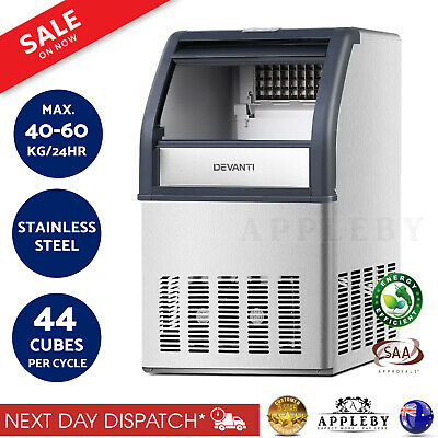Pub Bar Auto Ice Cube Maker Commercial Machine LED 40-60kg/24Hr Party Function