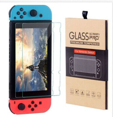 Nintendo Switch Premium Case Skin Tempered Glass Screen Protector (2 Pack)