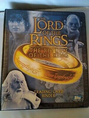 Lord Of The Rings Return Of The King  Official Topps Binder