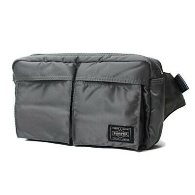 b3cdecd701 YOSHIDA PORTER TANKER WAIST BAG 622-68723 Silver gray With tracking From JP