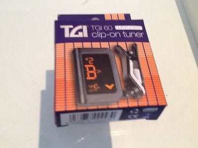 New Small guitar tuner by TGI clip on brand new in box!! buy it now!!